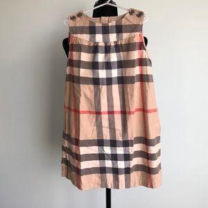 Burberry exploded check sleeveless dress. Size 8yr